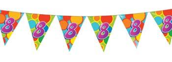 Feestfestijn Vlaggenlijn 8 jaar - 10 meter
