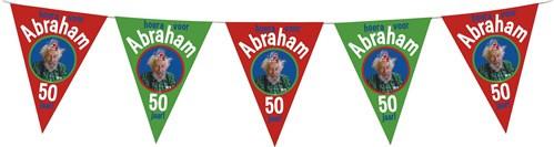 Feestfestijn Vlaggenlijn hoera voor Abraham