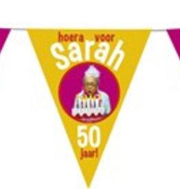 Feestfestijn Vlaggenlijn hoera voor Sarah