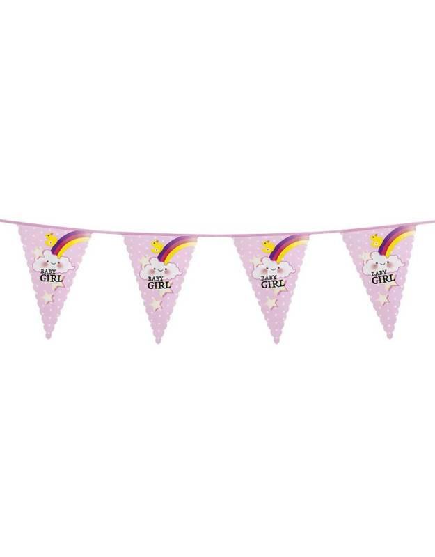 Feestfestijn Vlaggenlijn Een Meisje / Baby Girl - 6 meter