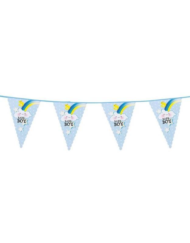 Feestfestijn Vlaggenlijn Een Jongen / Baby Boy - 6 meter