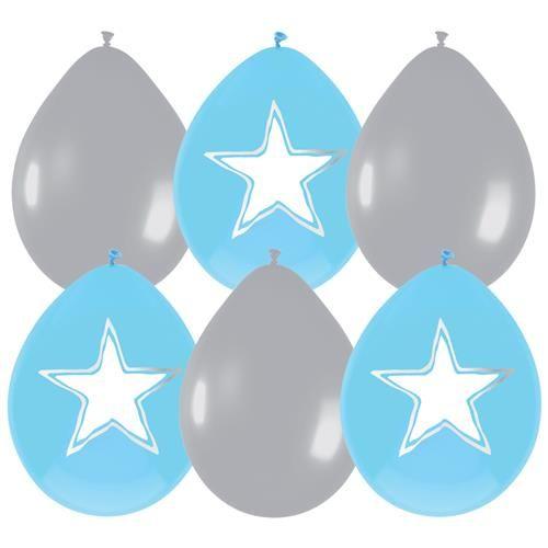 Feestfestijn Ballon Babyboy Beschrijfbaar 6 stuks