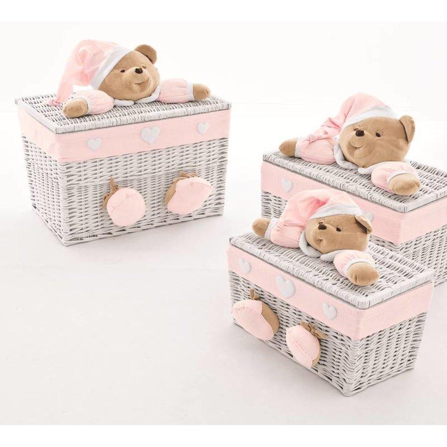 Speelgoedmand Puccio - Roze