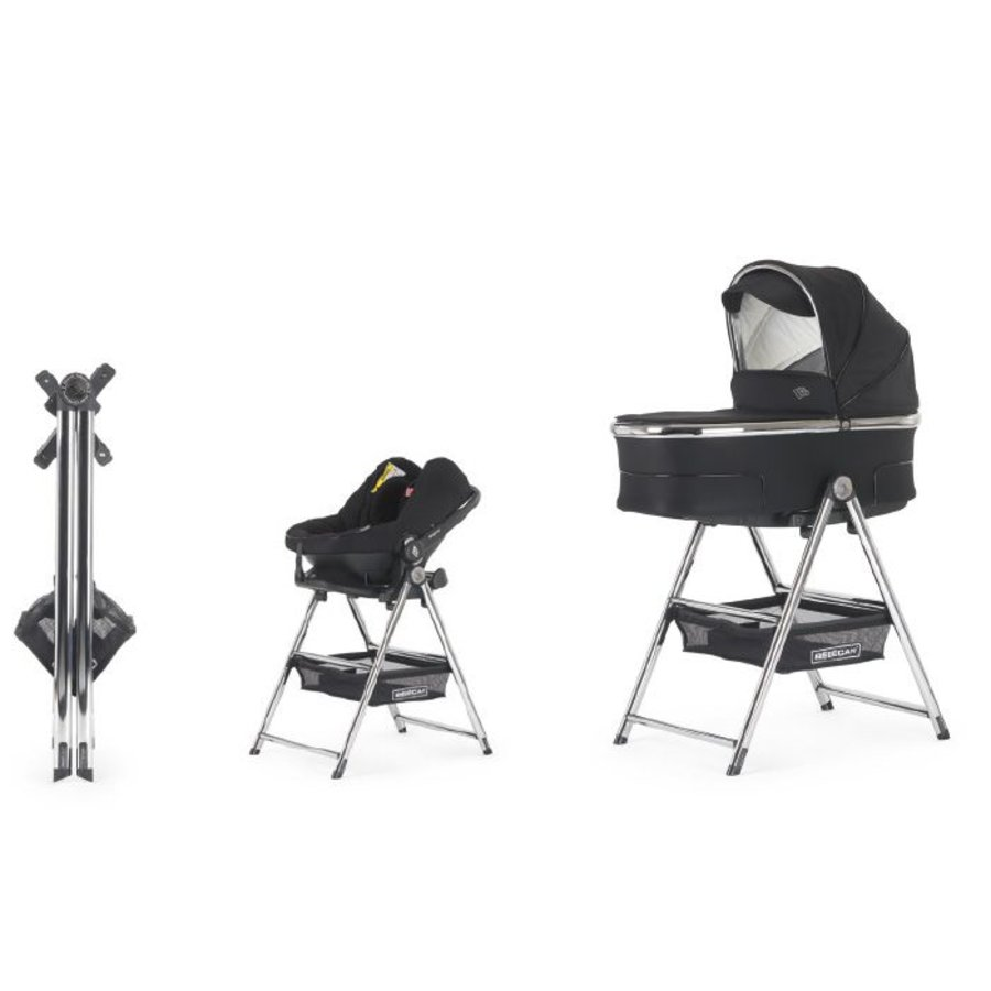 Standaard voor reiswieg en autostoel - chroom