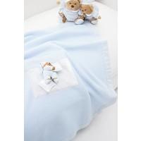 Dekentje fleece voor kinderwagen Puccio - Blauw