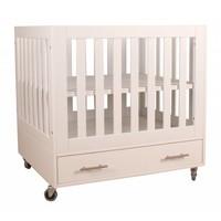 Babybox Milaan op wielen - Wit