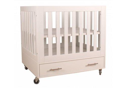 Happy Baby Babybox Milaan op wielen - Wit