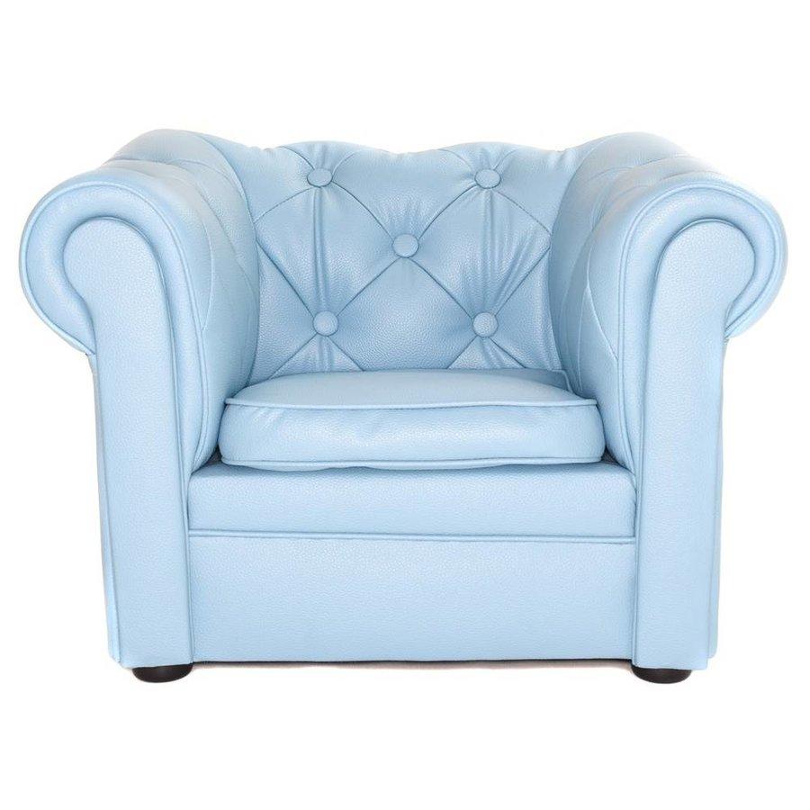 Chester Sofa mini - mat Licht Blauw