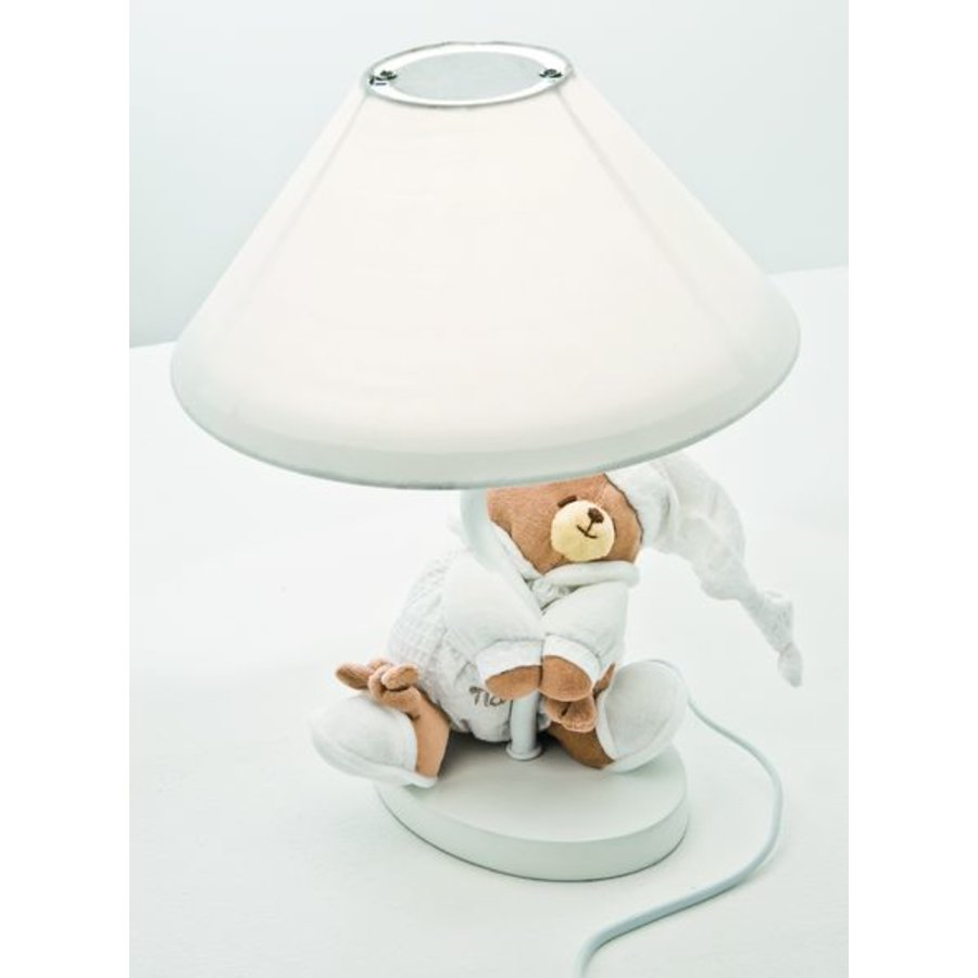 Lampje met beer Tato - Wit