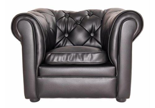 Olivier & Co Chester Sofa mini - Zwart mat
