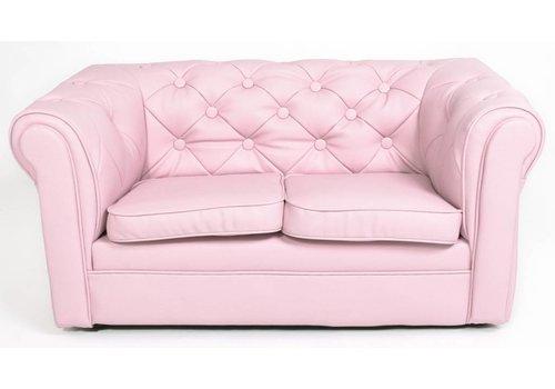 Olivier & Co Chester Sofa 2 zitter mini - mat licht Roze