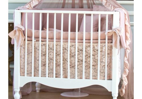 Royal Baby Collection romance box omranding met rolkussen - oud roze