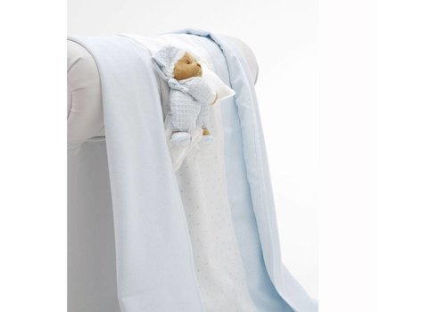 Nanan Zomer dekentje voor kinderwagen Puccio  - Blauw