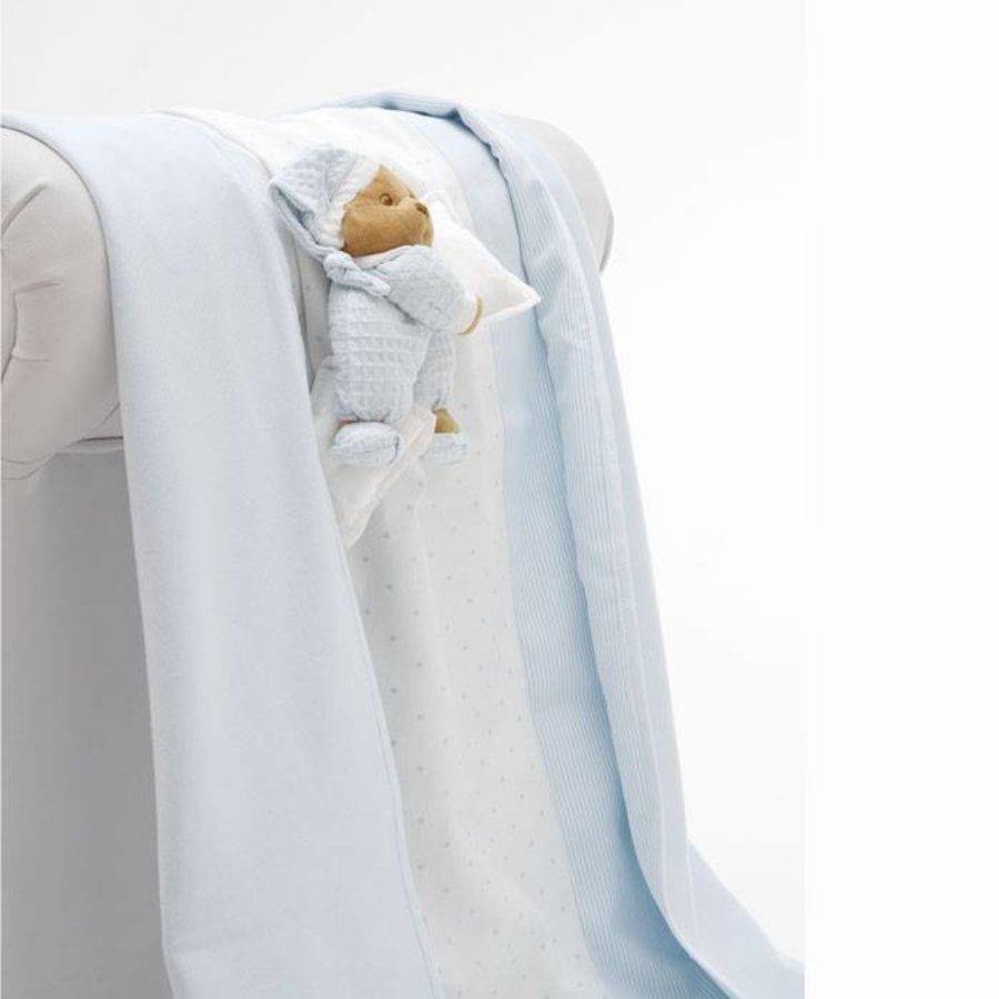 Zomer dekentje voor kinderwagen Puccio  - Blauw