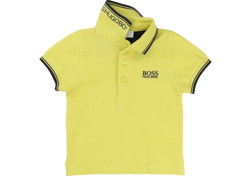 Hugo Boss polo - limoen