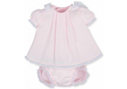Tutto Piccolo jurkje met broekje en strikjes - roze