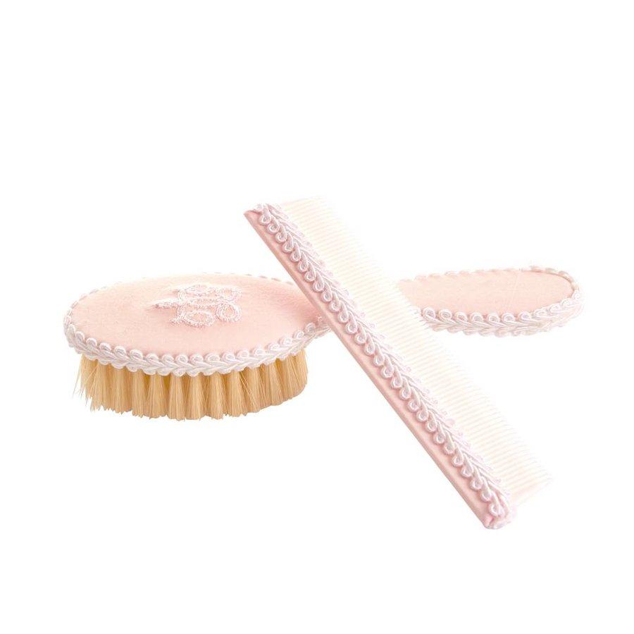 borstel en kam set -  Royal Pink