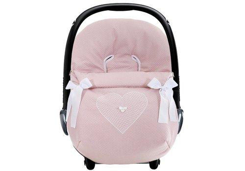 Uzturre autostoel voetenzak - oud roze