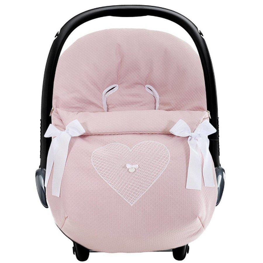 autostoel voetenzak - oud roze