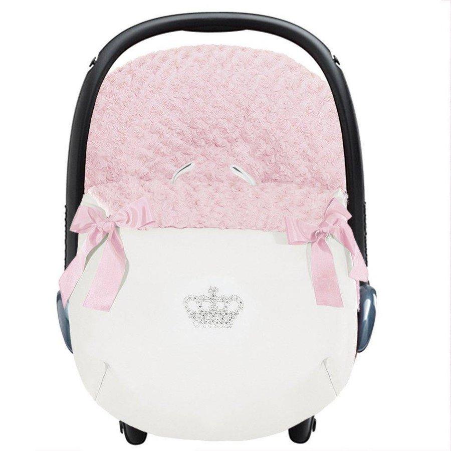 autostoel voetenzak - roze