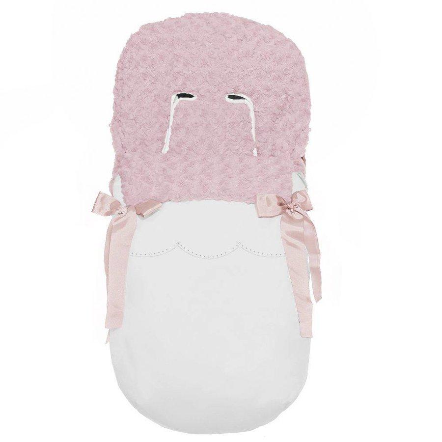 buggy voetenzak - wit/roze