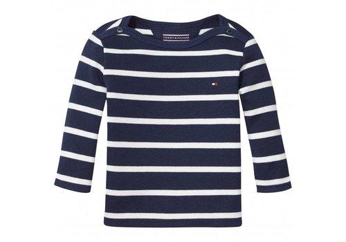 Tommy Hilfiger shirt met streepje - blauw