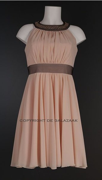 Cocktailjurk zalm 2379