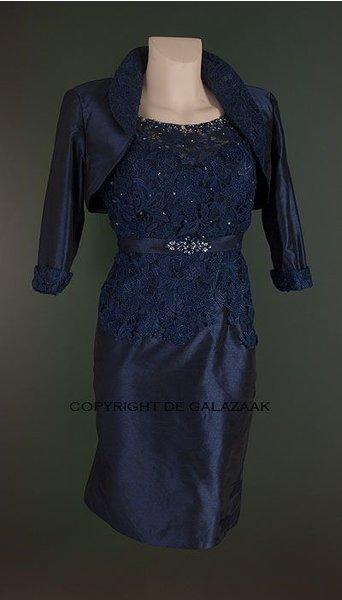 Mascara Cocktailjurk donkerblauw 1361
