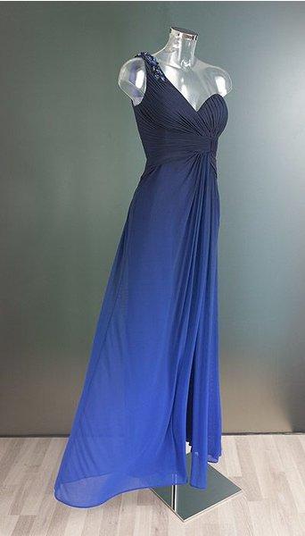 Magic Nights Avondjurk  blauw verlopend