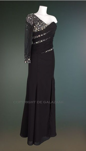 Magic Nights Galajurk zwart one shoulder 1049