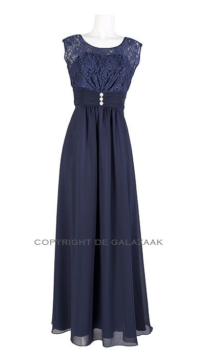 Paris Collection Galajurk navy en kant 2191