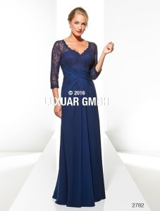 Magic Nights Navy blauwe galajurk met mouw