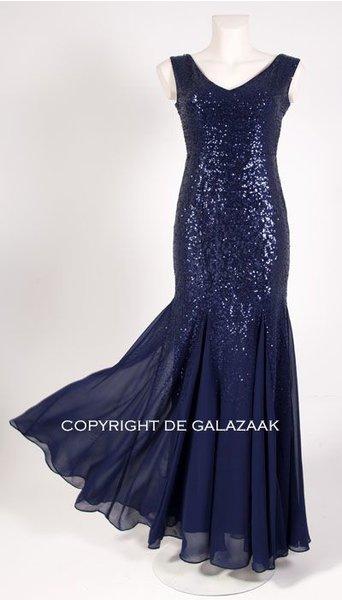 GLZK 3 Galajurk in blauw met pailletten