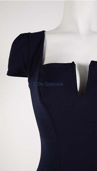 GLZK Galajurk navy met kleine kapmouwtjes