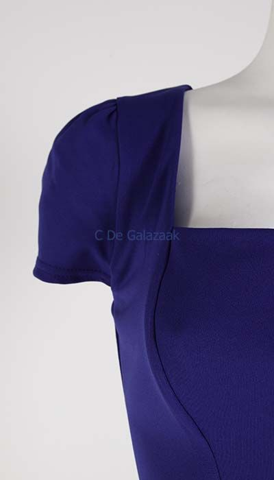GLZK Galajurk blauw met kapmouwtjes