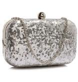 GLZK Clutch glitter zilver