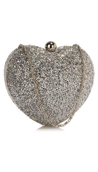 Clutch zilver
