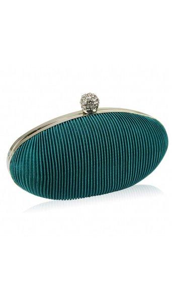 GLZK Clutch ovaal turquoise