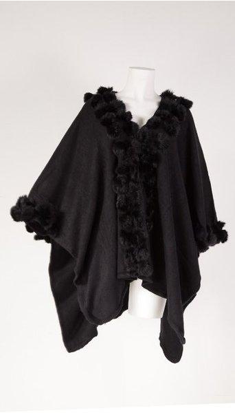 Omslagdoek zwart