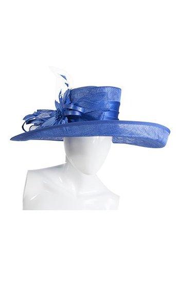 Dameshoed kobalt blauw