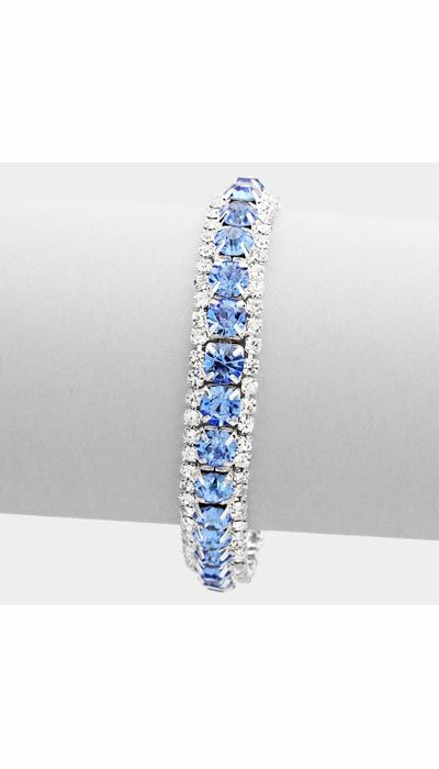 GLZK 1 Armband strass lichtblauw