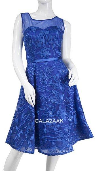 Cocktailjurk blauw  3325