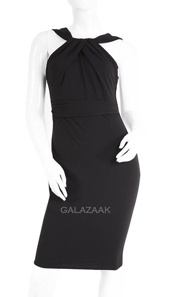 City Godess cocktailjurk halter in zwart