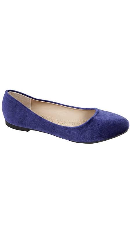 GLZK 2 Ballerina's suède blauw