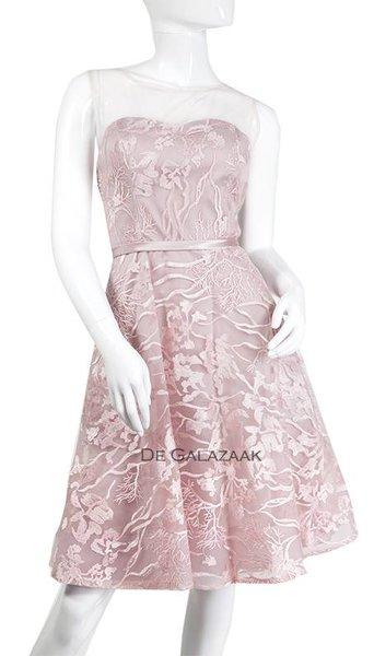 Cocktailjurk  roze  3395