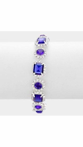 Armbanden zilver/blauw 3422