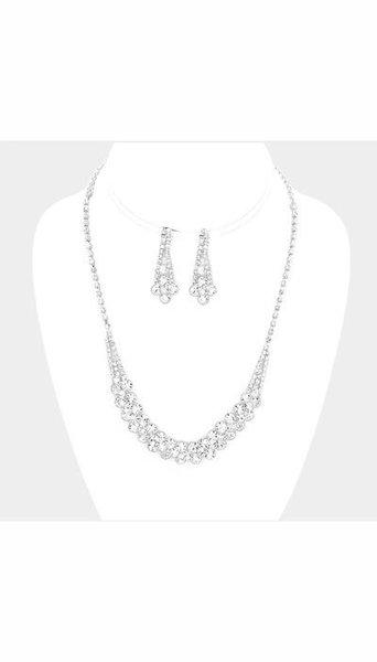 Set Ketting + Oorbellen zilver