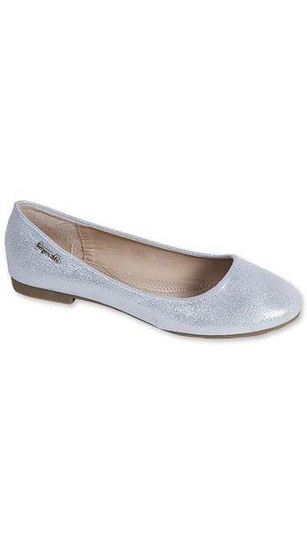 GLZK 1 Ballerina's metallic zilver