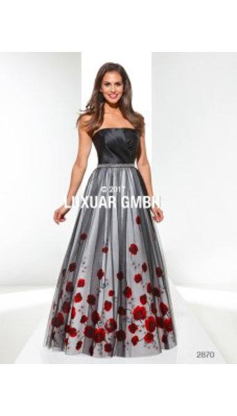 Magic Nights Galajurk zwart met rode rozen