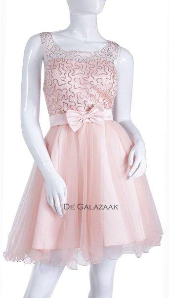 Roze cocktailjurkje  3535